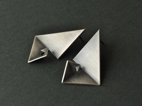 Sterling Silver Geometric Earrings - Golden Ratio I by Vangloria - Art Jewellery Store: Song of Jewellery