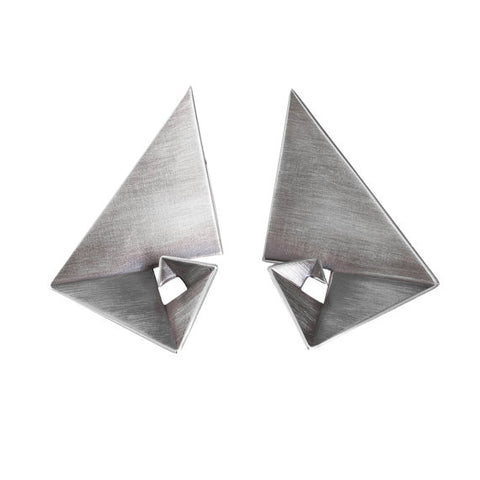 Sterling Silver Geometric Earrings - Golden Ratio I