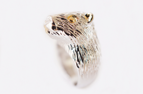 Gold Rhodium Bear Ring by Monvatoo - Art Jewellery Store: Song of Jewellery