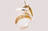 Gold Silver Unicorn Ring by Monvatoo - Art Jewellery Store: Song of Jewellery
