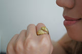Golden Phoenix Ring by Monvatoo - Art Jewellery Store: Song of Jewellery