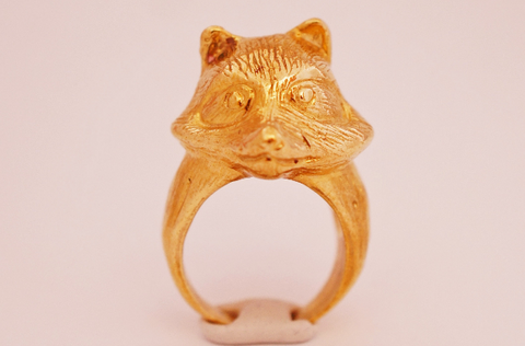 Golden Fox Ring by Monvatoo - Art Jewellery Store: Song of Jewellery