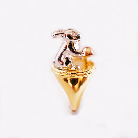Golden Mix Wild Rabbit Ring by Monvatoo - Art Jewellery Store: Song of Jewellery