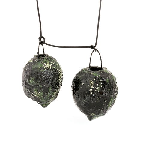 Green Duo Art Necklace by Cleopatra Cosulet - Art Jewellery Store: Song of Jewellery