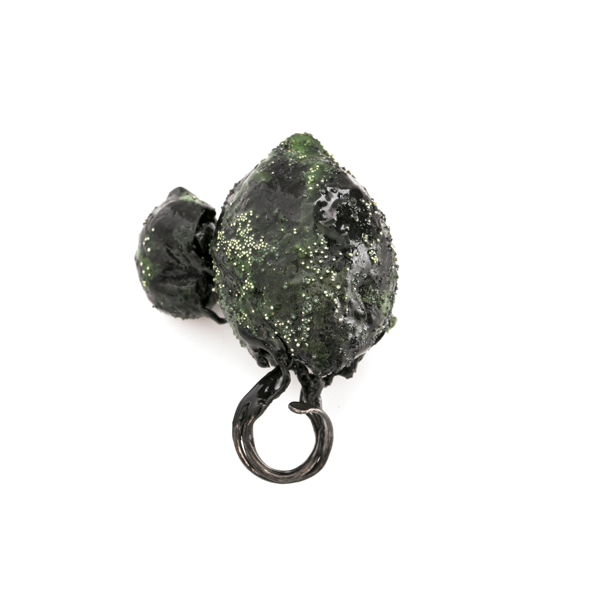 Green Duo Art Ring by Cleopatra Cosulet - Art Jewellery Store: Song of Jewellery