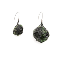 Green Oversized Art Earrings by Cleopatra Cosulet - Art Jewellery Store: Song of Jewellery