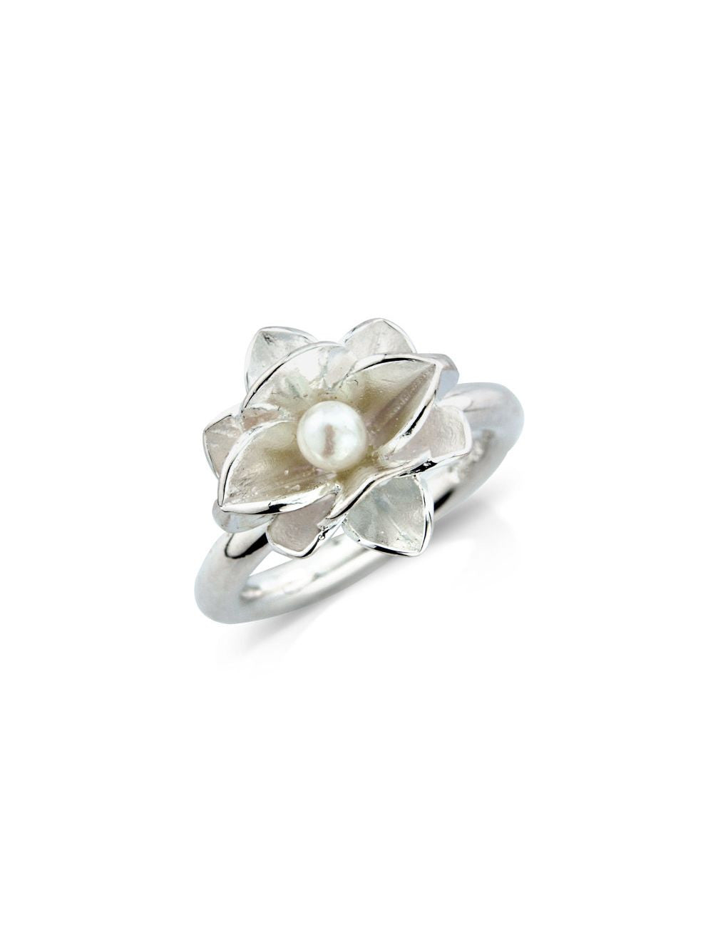 Romantic Silver Pearl Ring - Contemporary Jewellers SOJ