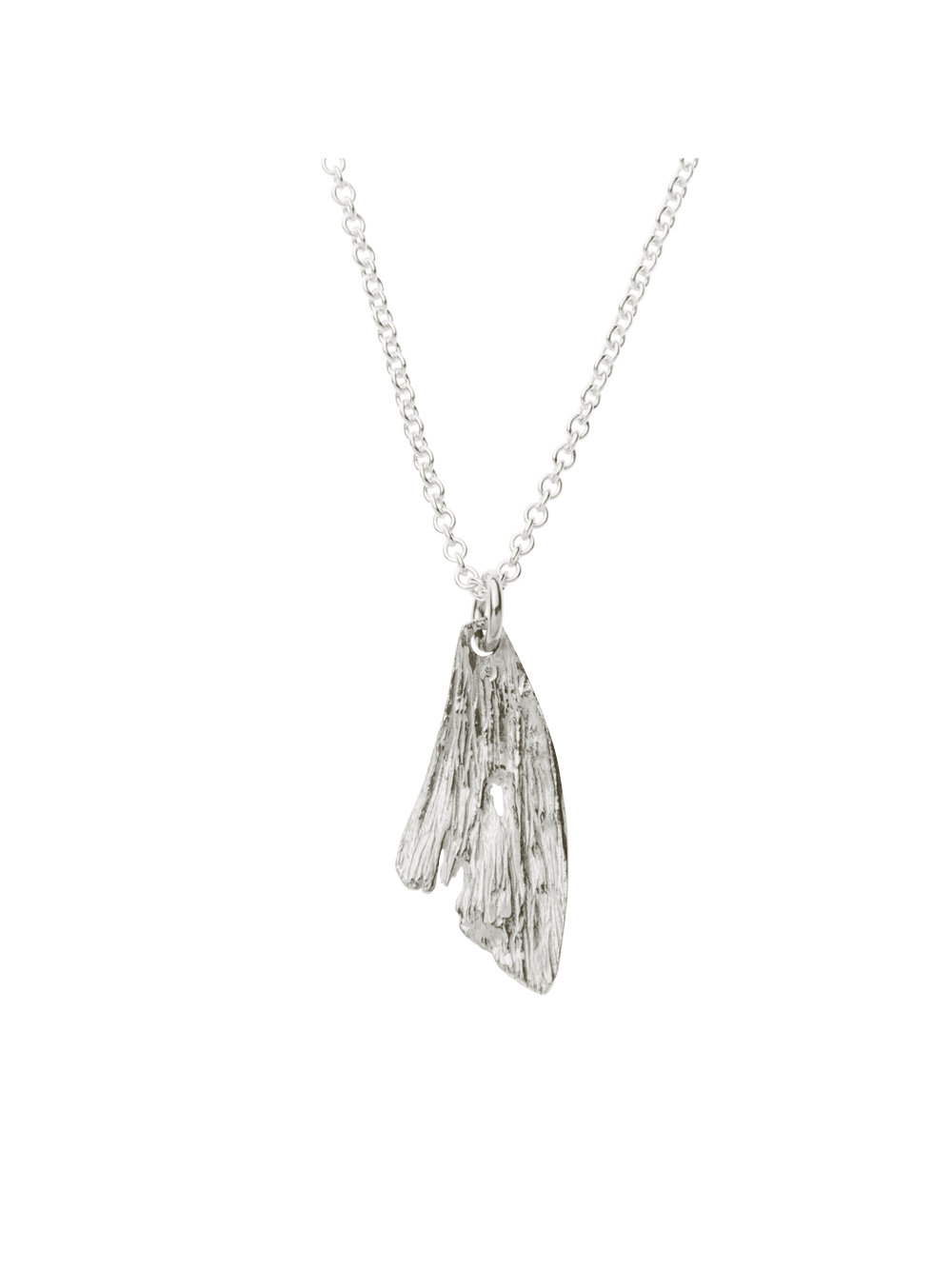 Boho Fish Tail Pendant Necklace - Silver Jewellery