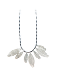 925 Bohemian Feather Necklace - Unique Silver Jewellery