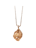 Red Gold Boho Feather Necklace by Aurum - Art Jewellery Store: Song of Jewellery