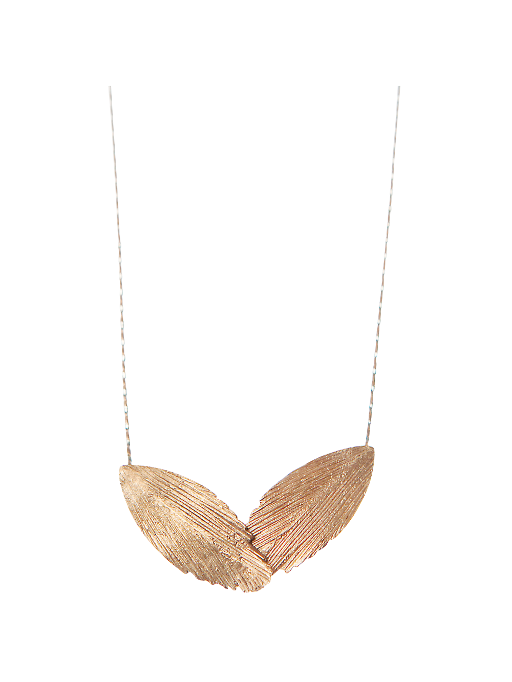 Red Gold Plated 925 Feather Statement Necklace - Ladies Jewellery