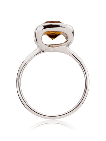 Infinity Sterling Silver Citrine Ring by Manja - Art Jewellery Store: Song of Jewellery