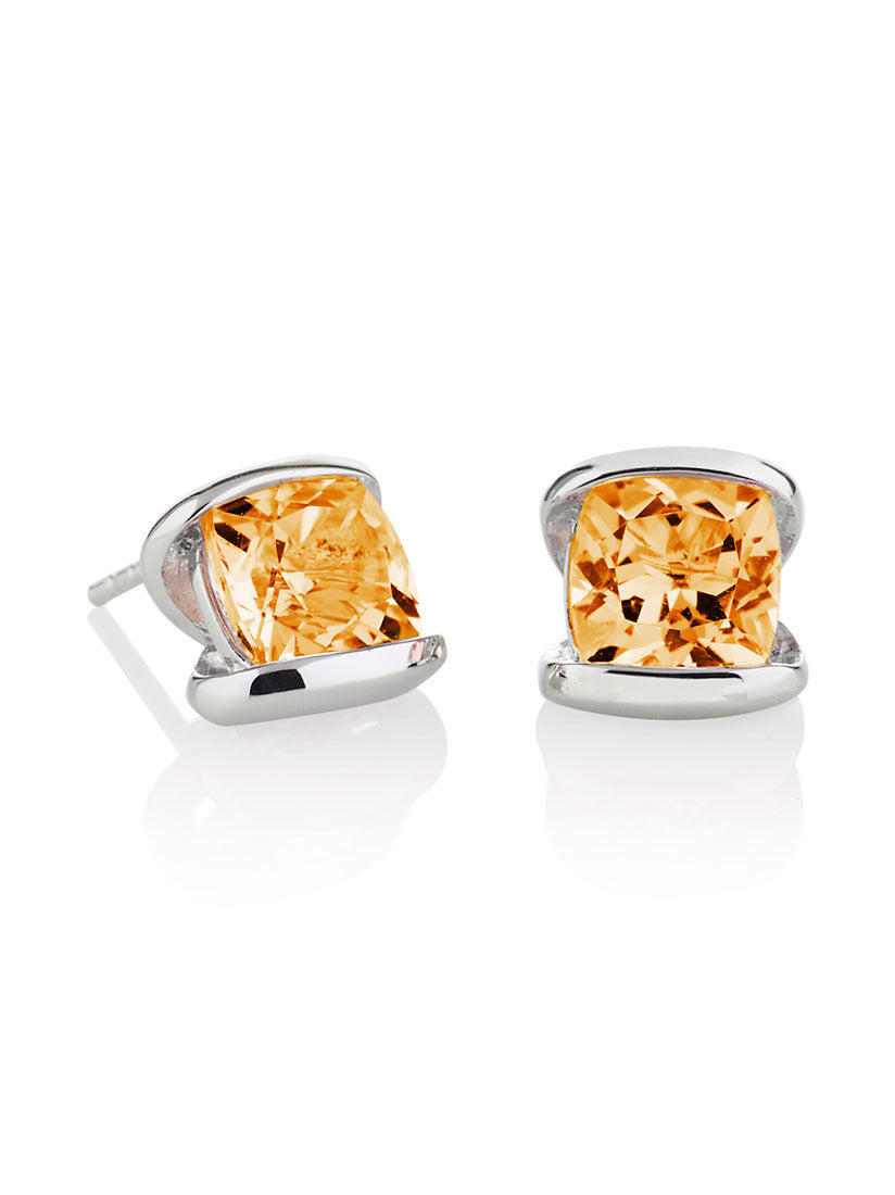 925 Silver Citrine Earrings | Shop British Jewellers | Free Shipping