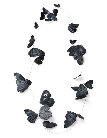 Black Butterfly Necklace