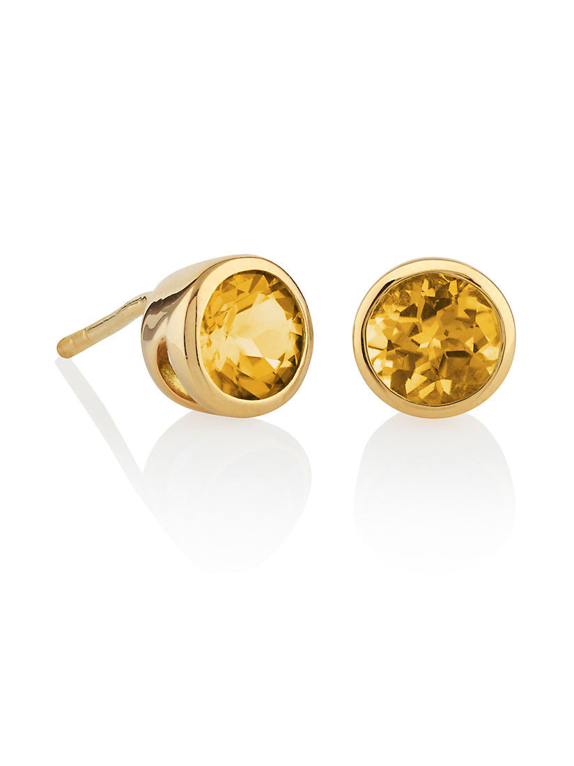 Juliet Gemstone Ear Studs With Citrine by Manja - Art Jewellery Store: Song of Jewellery