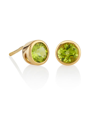 Juliet Gemstone Ear Studs With Peridot