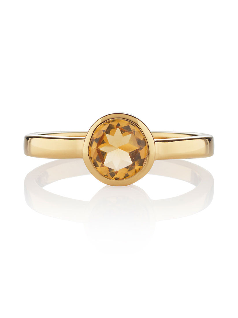 Juliet Gemstone Ring with Citrine by Manja - Art Jewellery Store: Song of Jewellery