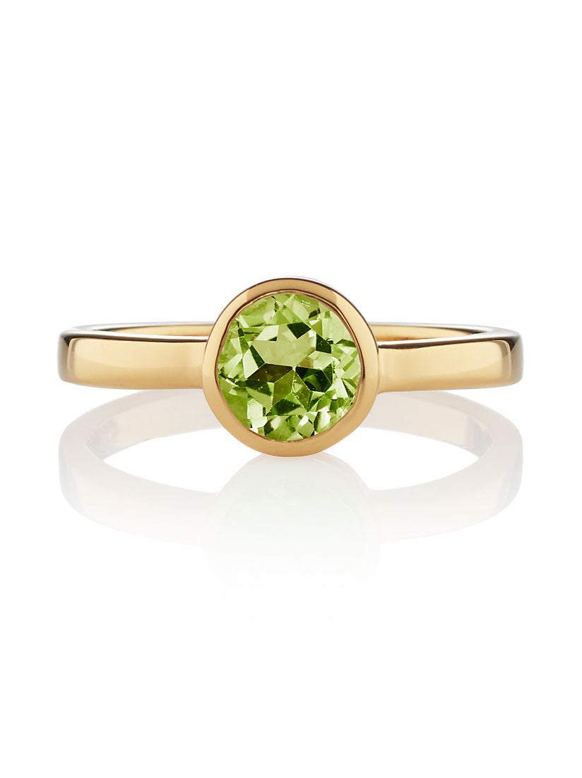 Juliet Gemstone Ring with Peridot by Manja - Art Jewellery Store: Song of Jewellery