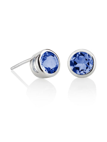 Juliet Sterling Silver Iolite Ear Studs
