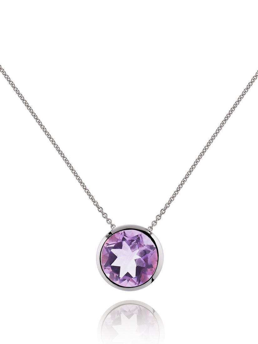 Juliet Sterling Silver Necklace With Amethyst by Manja - Art Jewellery Store: Song of Jewellery
