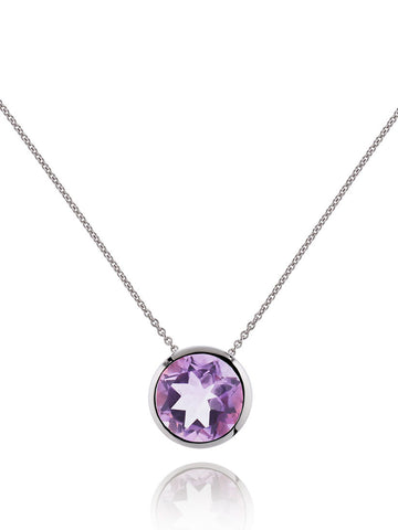 Juliet Sterling Silver Necklace With Amethyst