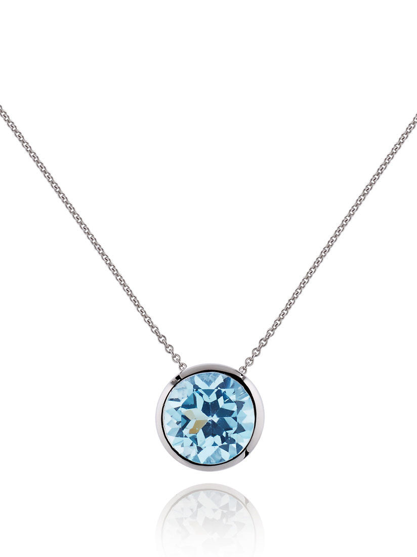 Juliet Sterling Silver Necklace With Blue Topaz by Manja - Art Jewellery Store: Song of Jewellery
