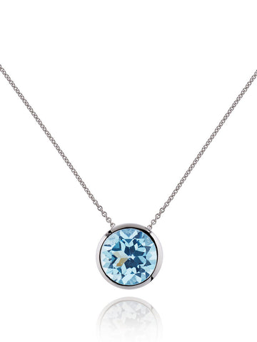 Juliet Sterling Silver Necklace With Blue Topaz