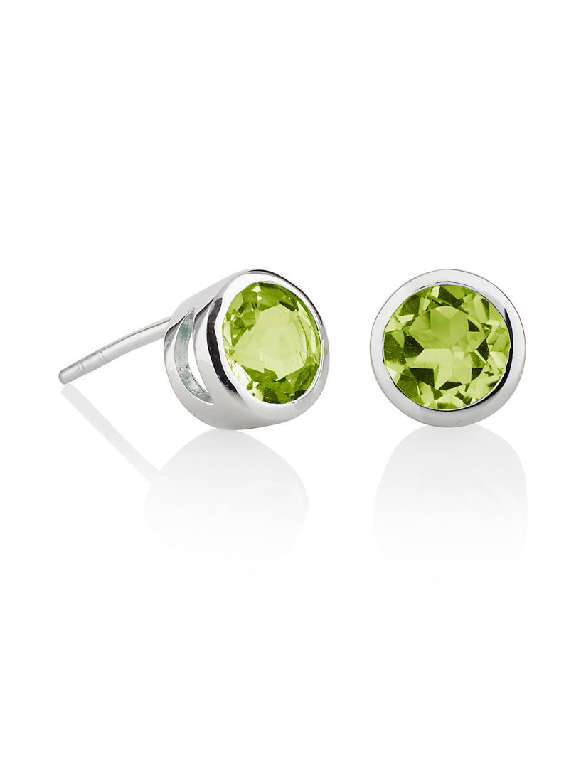 Juliet Sterling Silver Peridot Ear Studs