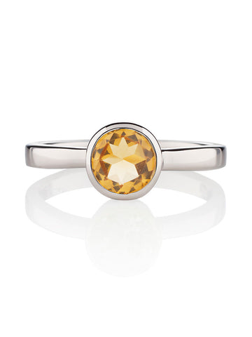 Juliet Sterling Silver Ring with Citrine