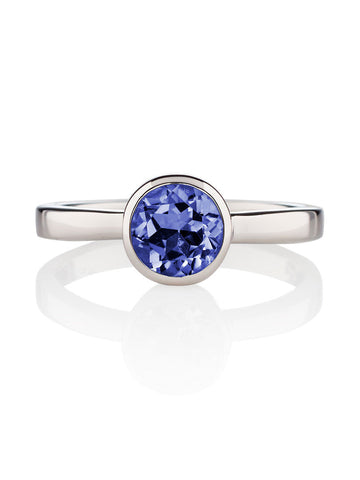 Juliet Sterling Silver Ring with Iolite