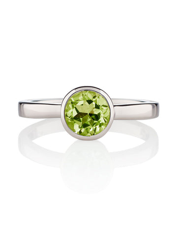 Juliet Sterling Silver Ring with Peridot