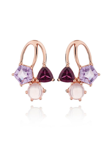 Kintana Purple Gemstone Earrings