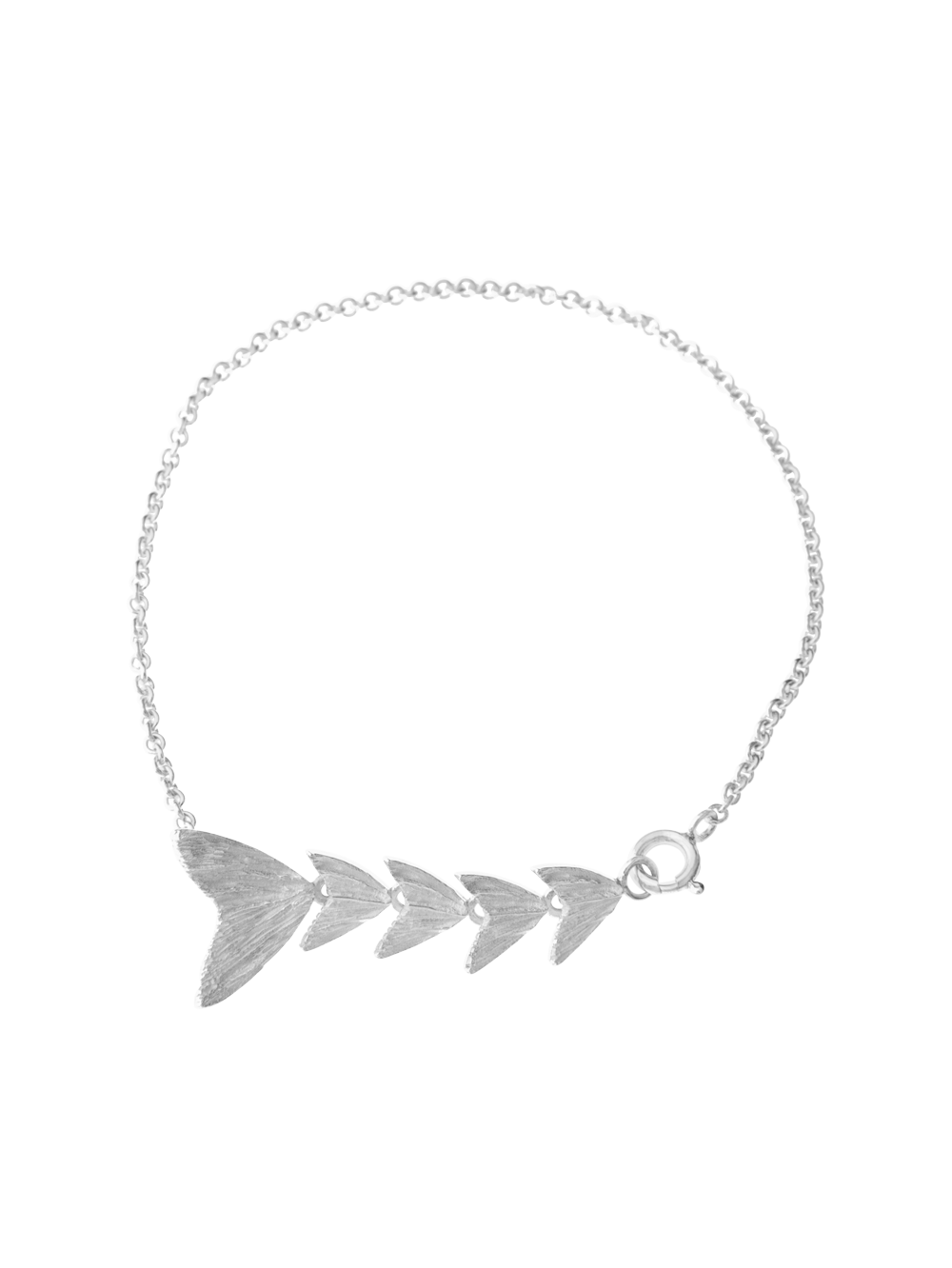 Silver Fish Tail Bracelet - Silver Statement Jewellery