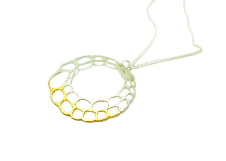 Unusual Design Necklace in Gold and Silver - Kokkino UK