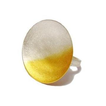 Electra Large Disc Ring by Kokkino - Art Jewellery Store: Song of Jewellery