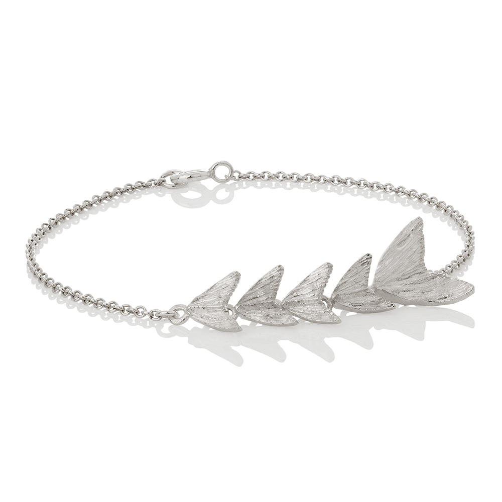 Silver Lax Tail Bracelet by Aurum - Art Jewellery Store: Song of Jewellery