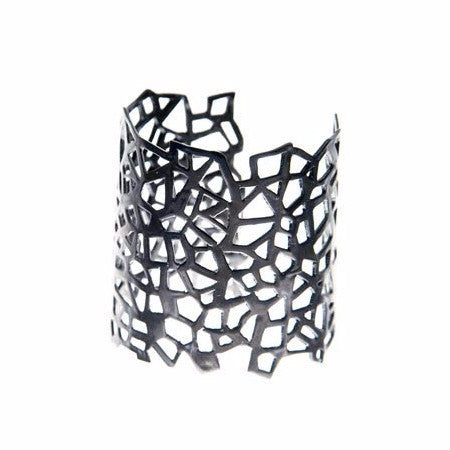 Lutece Design Cuff by Co.Ro. Jewels - Art Jewellery Store: Song of Jewellery