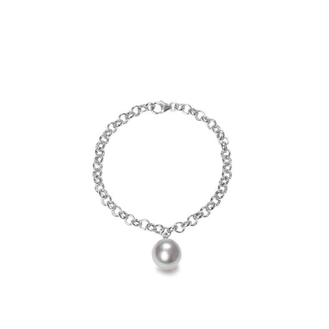 Magna Grey Pearl Bracelet in Silver or Gold