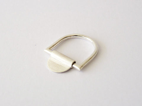 Minimalist Sterling Silver Ring - Sheet & Tube by Ana Pina - Art Jewellery Store: Song of Jewellery