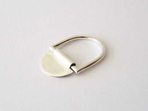 Minimalist Sterling Silver Ring - Sheet & Tube Large by Ana Pina - Art Jewellery Store: Song of Jewellery