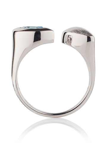 Nara Sterling Silver Blue Topaz Ring by Manja - Art Jewellery Store: Song of Jewellery