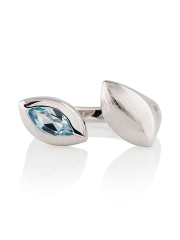 Nara Sterling Silver Blue Topaz Ring