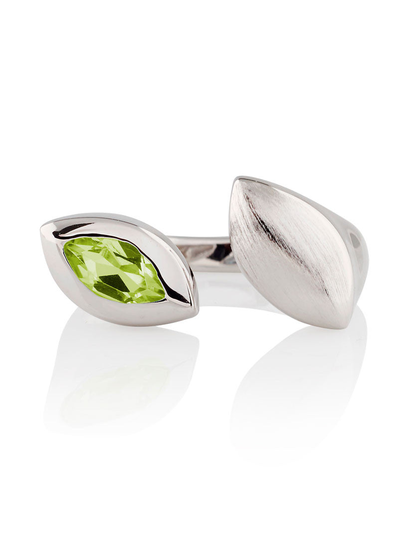 Nara Sterling Silver Peridot Ring by Manja - Art Jewellery Store: Song of Jewellery