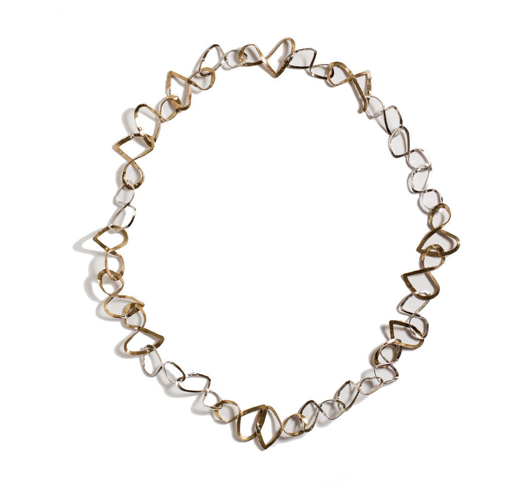 Infinity Bronze and Silver Necklace by Simone Vera Bath - Art Jewellery Store: Song of Jewellery