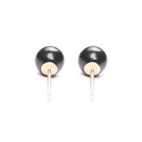 Timeless Pearl Stud Earrings - Large Black Pearls by ORA - Art Jewellery Store: Song of Jewellery