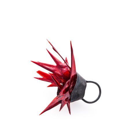 Red Passion Wearable Art Ring