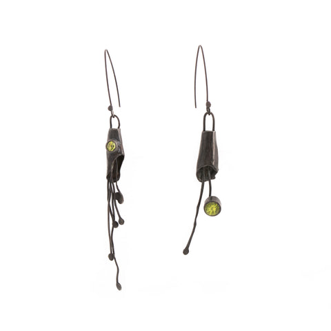 Rustic Peridot Earrings