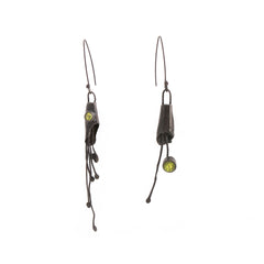 Rustic Peridot Earrings by Cleopatra Cosulet - Art Jewellery Store: Song of Jewellery
