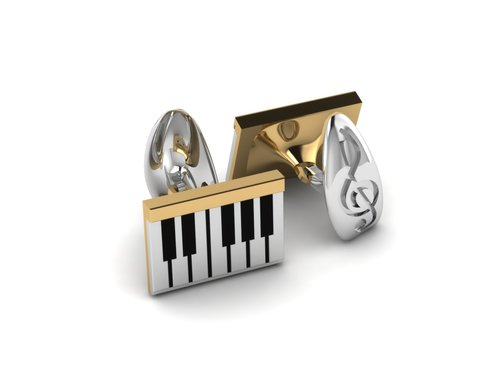 Piano Cufflinks by Sebastian Pintea - Art Jewellery Store: Song of Jewellery