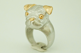 Posh Pug Ring Animal Ring Dog Ring Puppy Ring
